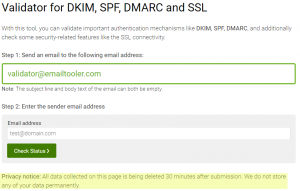 Email Tooler - validate DKIM, SPF, DMARC, and SSL