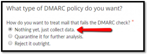 DMARC policy selection at dmarcian