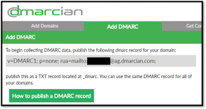 DMARC generated email address from dmarcian