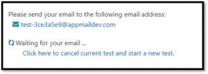 App Mail Dev tests